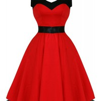 Bow Belle [Black & Red] | DRESS
