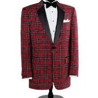 Red Stewart Tuxedo Dinner Jacket