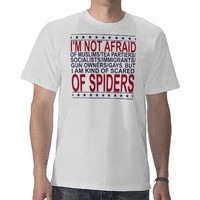 AFRAID OF SPIDERS SHIRT from Zazzle.com