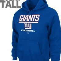 New York Giants 80% Cotton/ 20% Polyester Hoody, Big and Tall
