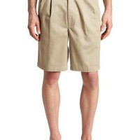 Haggar Mens Classic Khaki Pleat Front Short