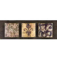 Yosemite Home Decor YC100031A Fleur-de-lis Painted Wall Art