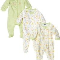 Gerber Unisex-baby Newborn 3-Pack Zip Front Sleep and Play Bodysuit Footies