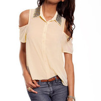 Just Bead It Top in Cream :: tobi