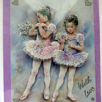 Ballerina - Hand-Crafted 3D Decoupage Card - With Love (1721)