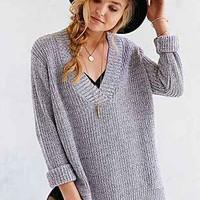 Silence + Noise Cool Down V-Neck Sweater-