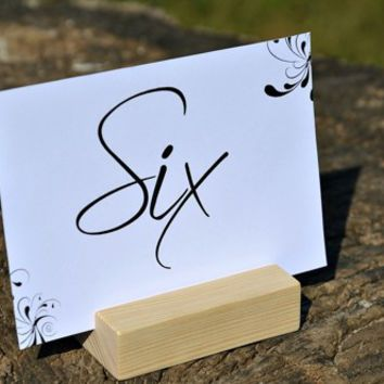 10 Wood Table Number Holders for Wedding, DIY Rustic Number Holders