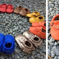 Real Leather Baby Moccasins!