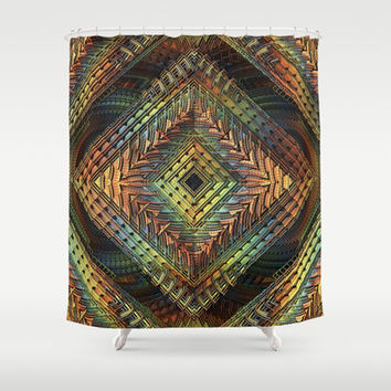 D-Zine Shower Curtain by Lyle Hatch | Society6