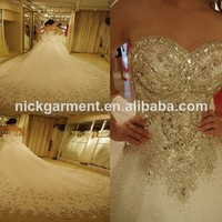 2014 New Arrival Strapless Sweatheart Rhinestones Crystals Beaded Organza Catheral Train Luxury Bridal Wedding Dress Lbr029 - Buy Wedding Dress 2014,Wedding Dresses With Long Trains,Crystal Rhinestone Wedding Dresses Product on Alibaba.com