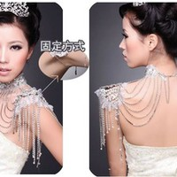2014 Hot Selling Fashion Bridal Necklace Shoulder Accessory Tassel Styles - Buy Bridal Necklace,Silver Tassel Necklace,Make Tassel Necklace Product on Alibaba.com