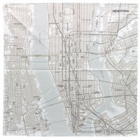 Map of NY Handkerchief