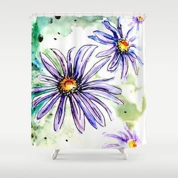 Daisies Shower Curtain by Claudia McBain