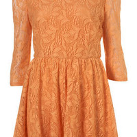 Orange Lace Flippy Dress - Dresses - Clothing - Topshop USA