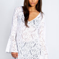 Pippa Lace Bell Sleeved Dress