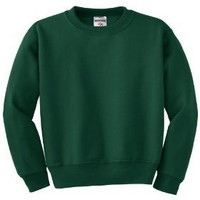JERZEES - Youth Crewneck Sweatshirt. 562B - X-Large - Forest Green [Apparel]