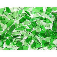 Mixed Green Stained Glass Cobbles-16 ounces(one pound)