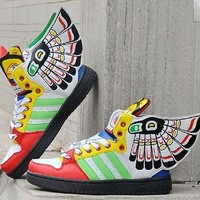 Angel Wings hip-hop shoes high-top shoes, skateboard shoes Indian couple shoes