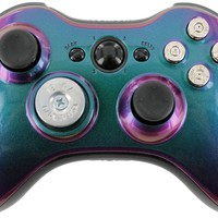 """Enigma Bullet"" Xbox 360 Custom Modded Controller with a Silver Shotgun D-Pad + Bullet Buttons Exclusively by Gimika"