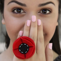 Flower Ring by Sanaz on Etsy