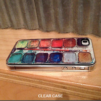 iphone 4s case iphone 4 case Watercolor Set iPhone Case by CRAFIC
