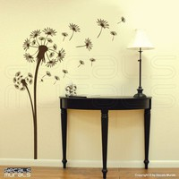 Wall decals DANDELION Vinyl decor stickers  Floral by decalsmurals