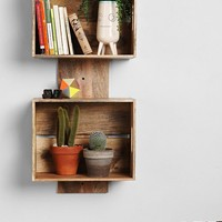 4040 Locust Stacked Crate Wall Shelf- Brown One