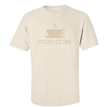 Coffee Time - Unisex Port & Company Essential T-Shirt - FunnyShirts.org
