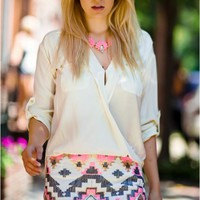 Tribal sequin skirt