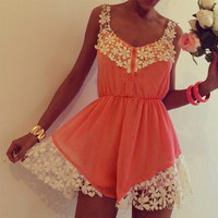 Clementine Lace Playsuit