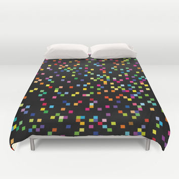 Pixels Duvet Cover by Ornaart