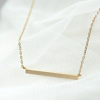 simple style gold chain necklace women collarbone by braceletcool