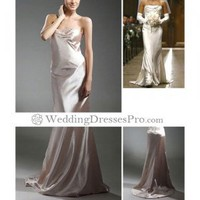 Wilhelmina Slater Ugly Betty Trumpet / Mermaid Strapless Court Train Satin Celebrity Luxury Wedding Dress (TTM060) [TTM060] - $154.99 : wedding fashion, wedding dress, bridal dresses, wedding shoes