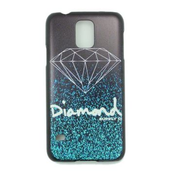 JIAXIUFEN Fashion Diamond Quotes Black Sides Slim Hard Plastic Case For Samsung Galaxy S5 S 5 SV SM-G900F i9600
