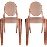 Viyet | Luxury Furniture Consignment - Seating - Kartell Victoria Ghost Chairs