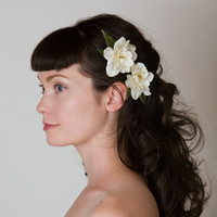 Bohemian Flower Hair Clips Bridal Fascinator by Sweet Little Sparrow
