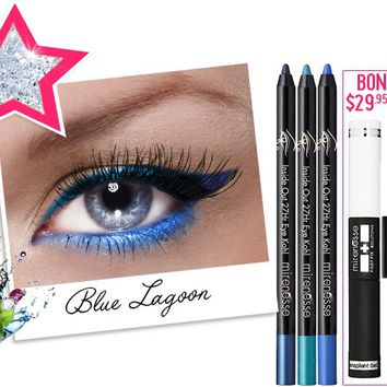 *SP 27hr Inside Out Blue Lagoon Cocktail Colour FREE INSTANT LASH TRANSPLANT DUET - Mirenesse