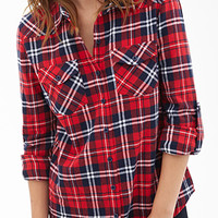 Tartan Flannel Collared Shirt