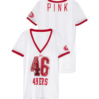 San Francisco 49ers Bling Mesh Jersey - PINK - Victoria's Secret