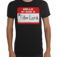 Marvel Guardians Of The Galaxy Star-Lord Name Tag T-Shirt