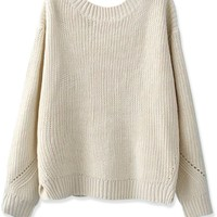 Simply Solid Knit Sweater - OASAP.com