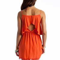 open back crochet trim dress &amp;#36;40.90 in JADE ORANGE - Casual | GoJane.com