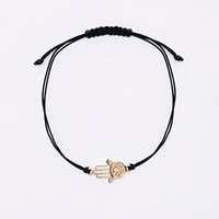 Hamsa Hand Thread Wish Charm Bracelet - Urban Outfitters