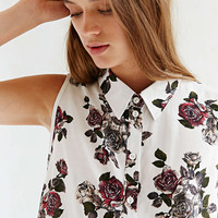 Pins And Needles Printed Floral Blouse - Urban Outfitters
