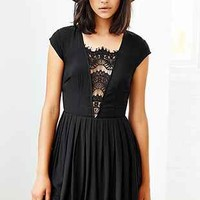 Stylestalker Mayfair Lace-Inset Fit + Flare Dress - Urban Outfitters