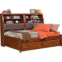Santa Cruz Cherry7 Pc Full Bookcase Daybed Bedroom