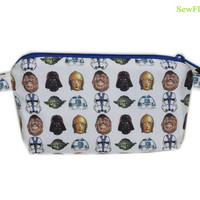 NEW Star Wars Zipper Case | Makeup Bag | Cosmetic Case | Pencil Case | Star Wars Heads