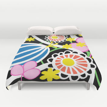 Floral 3 Duvet Cover by Cecilia Andersson