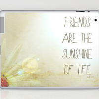 Sunshine &amp; Friendship Laptop &amp; iPad Skin by Rachel Burbee | Society6