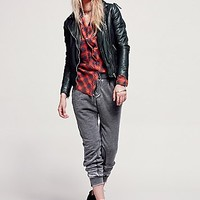 Free People Womens Knit Utility Jogger - Washed Black,